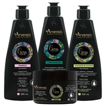 Kit Arvensis Cachos Crespos Shampoo + Condicionador + Ativador + Máscara