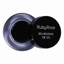 Delineador Em Gel Black Preto Ruby Rose