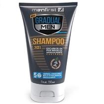 Menfirst Shampoo Gradual Men Cabelo Castanho Original